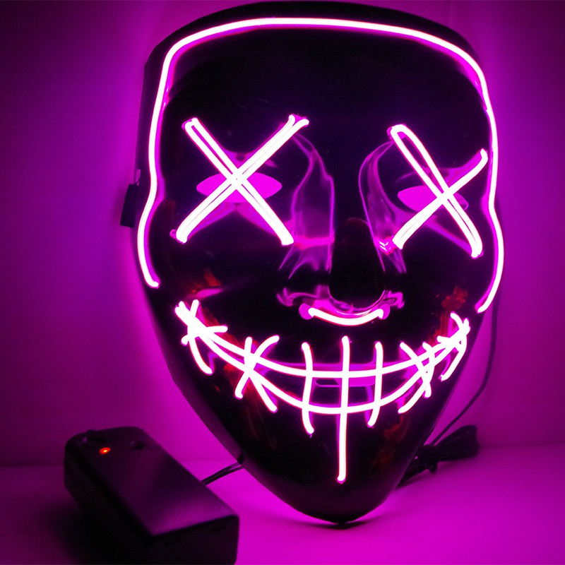 Viral Halloween Led Mask - Purple