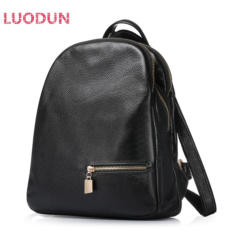 LUODUN 2018 spring and summer fashion leather backpack first layer leather backpack travel bag aetoo spring and summer new leather handmade handmade first layer of planted tanned leather retro bag backpack bag