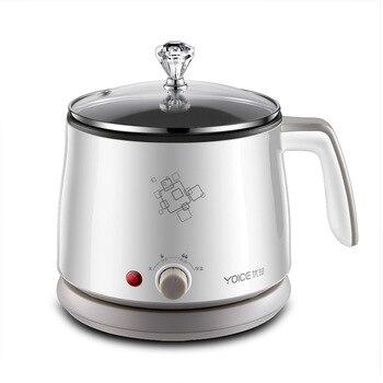 Kbxstart 1.5L Multifunction Electric Cooking Pot Heating Pan Noodles Rice Cooker Hot Pot Food Multi Cooker Machine Steamer 220V 3