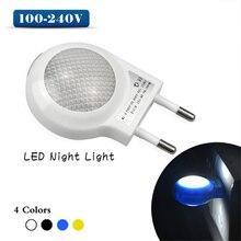 1PCS Mini LED Night Light Auto Sensor High Quality 0.7W EU US Plug Night Lamp Smart Lighting Control Baby Bedroom Lamp