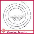 Carraton NSYS6015 Moda Genuino 925 Sólido Collar de Cadena de Plata