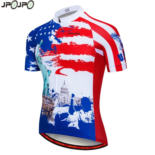 jpojpo Cycling Clothing Men Jersey Bicycle Shirt USA Pro Team polyester Cycling  Jersey Ropa MTB Outdoor Mountain Bike Jersey 1f1057575