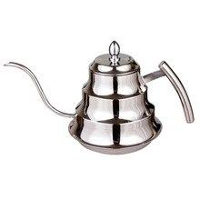 Hohe Qualität Küche Kaffee Kaffeekanne Edelstahl Drip Wasserkocher Teekanne, 1.2L Feinen mund kaffeekanne FG