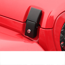lsrtw2017 car styling hood cover lock replace for jeep wrangler 2018 2019 2020