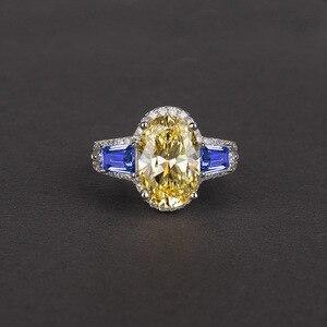 Image 4 - Onerain 高級 100% 925 スターリングシルバー作成モアッサナイトシトリンサファイア宝石の婚約結婚指輪ジュエリー卸売