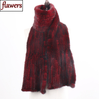 2019 New Arrive Winter Autumn Lady Fashion Mink Fur Scarf Knitted Real Mink Scarves 170X15CM Warm Elegant Women Fur Muffle