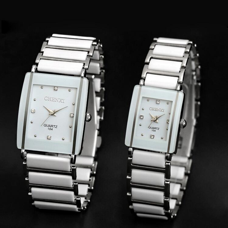 Quartz Watch, Women & Men Lover Ceramic Watches ,Quartz-watch Fashion Waterproof Dress Wrist watches 8