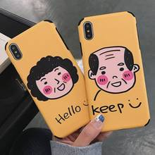 Soft TPU Couples Case For iphone 7 8 Plus X XS XR Xs Max Cases Embossed Cover 6 6S Funny Cute