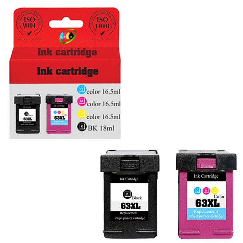 63XL 63 XL BK Color Ink Cartridge For HP OfficeJet 3831 4652 4654 4655 Envy 2132