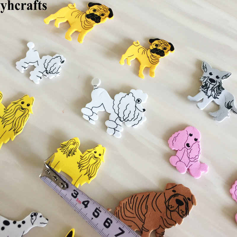 16PCS/LOT.Different kind of dog wolf foam stickers Early learning diy toys Activity items Kids room ornament Birthday gifts Cute