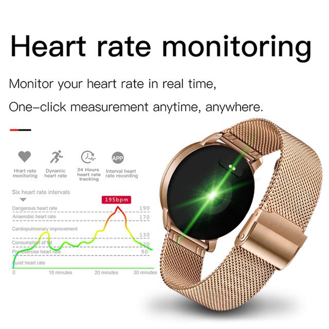 2019 New Smart health watch Men women Heart rate monitor Blood pressure wristband Pedometer fitness watch Sports mode watch+box