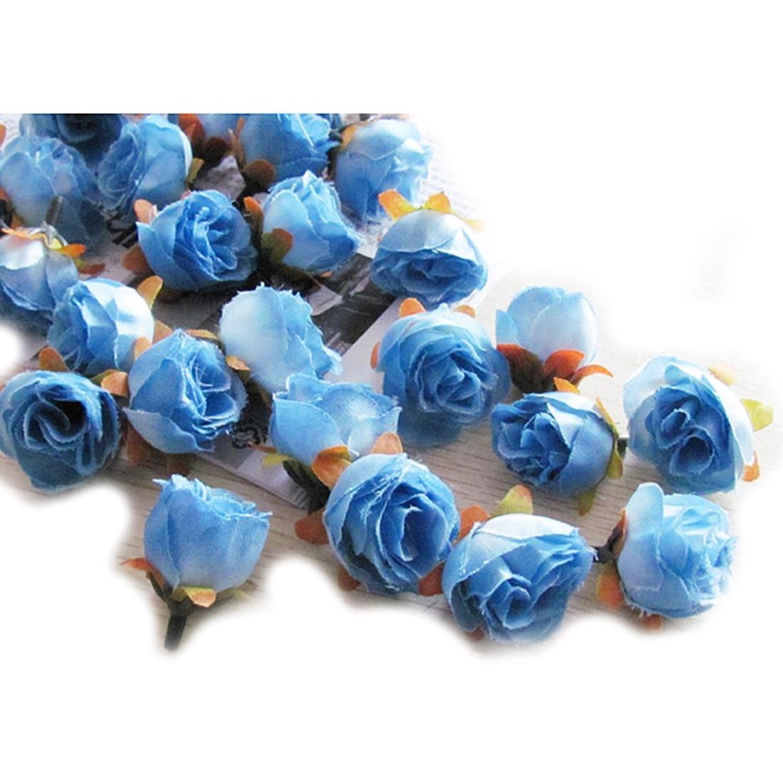 100pcs Multi Color Small Tea Rose Diy Silk Flowers Artificial