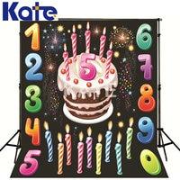 Kate Photo Studio Backdrop Colorful Digital Birthday Cake Background Backdrop For Birthday Photo Studio Photography Prop