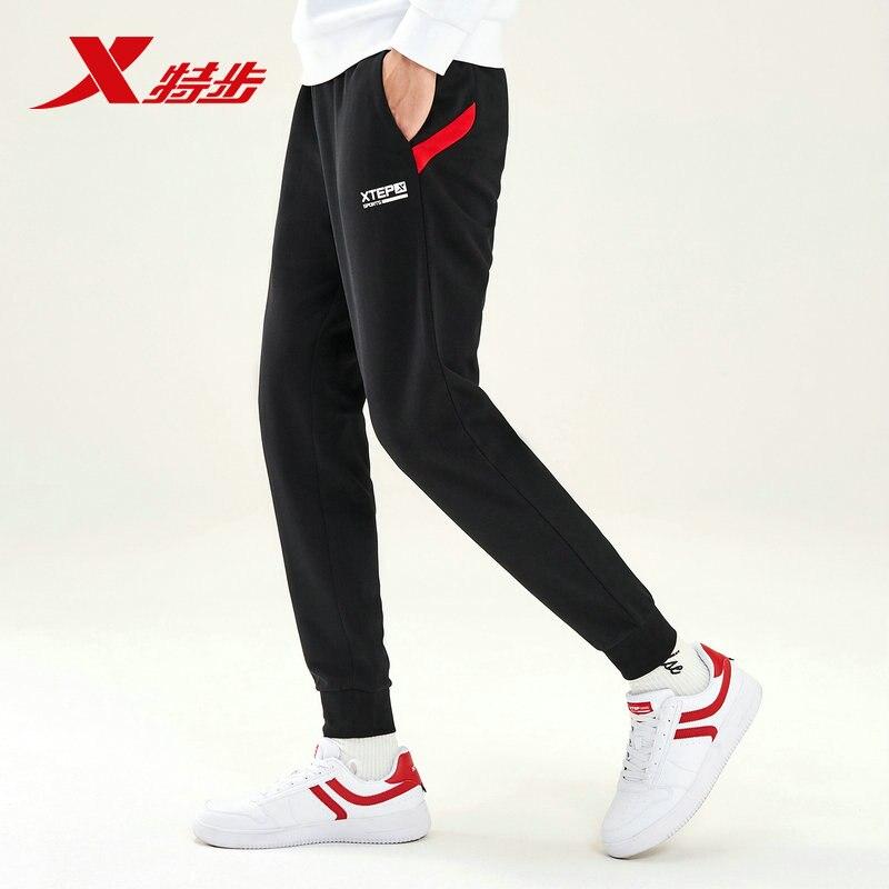 881329639239 Xtep hommes pantalons de course pantalon automne nouvelle mode tricot décontracté sport pantalon