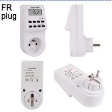 FR Plug Digital Weekly Programmable Electrical Wall Plug-in Power Socket Timer Switch Outlet Time Clock 220V 110V AC стоимость