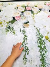 Wedding Backdrop Bridal Shower Large Background White Floral Wister Design Decoration Photography Booth XT-6749