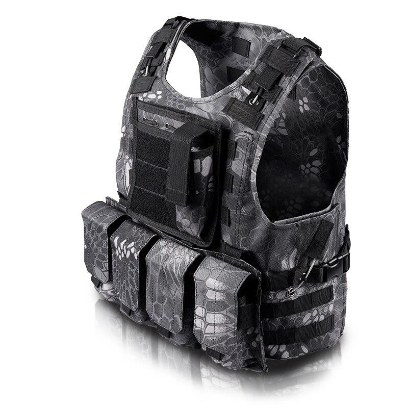 Kamuflyaj ovu Airsoft Hərbi Vest Mens Bulletproof Ordu CS Paintball - İdman geyimləri və aksesuarları - Fotoqrafiya 2