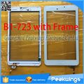 """10pcs/lot 7""""inch For Acer Iconia Talk7 B1-723 Touch Screen Digitizer Panel Lens Replacement with Frame"""