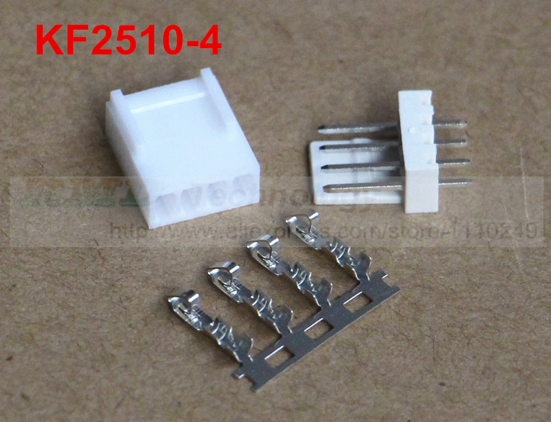 50set/lot KF2510 2510 2.54 mm 4pin connector,50 pcs male header + 50pcs female housing + 200pcs terminal 2.54mm 4p free shipping 50pcs lot kf2510 kf2510 4y female connector housing 2 54mm 4pin free shipping