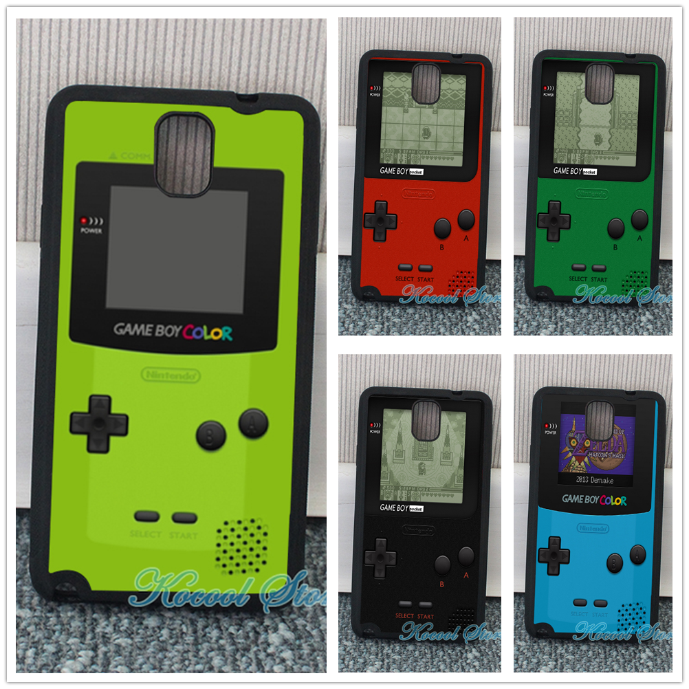 Game boy color online games - Green Nintendo Game Boy 2 Fashion Cover Case For Samsung Galaxy S3 S4 S5 S6 Edge