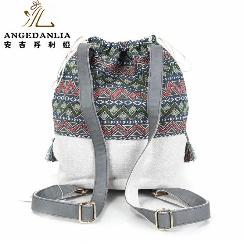 7f4e9a052dbb8 Frauen Böhmischen stil rucksack damen phantasie taschen leinwand  umhängetasche Boho Baumwolle Stoff Tasche nationalen ethnische taschen  knapsack in Frauen ...