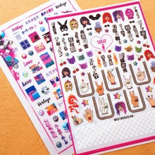 3d nail sticker Newest MGM-116 decals back glue Japan Harajuku style rhinestones DIY decoration tools
