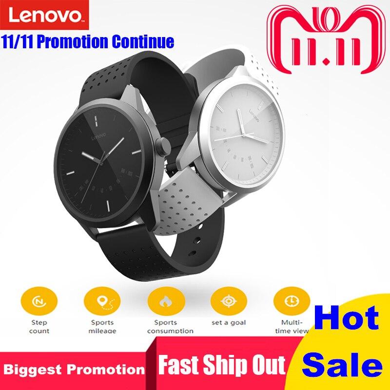Lenovo reloj 9 Bluetooth Smartwatch alarma Monitor de sueño recordatorio Fitness Tracker 50 m resistente al agua reloj inteligente para IOS Android