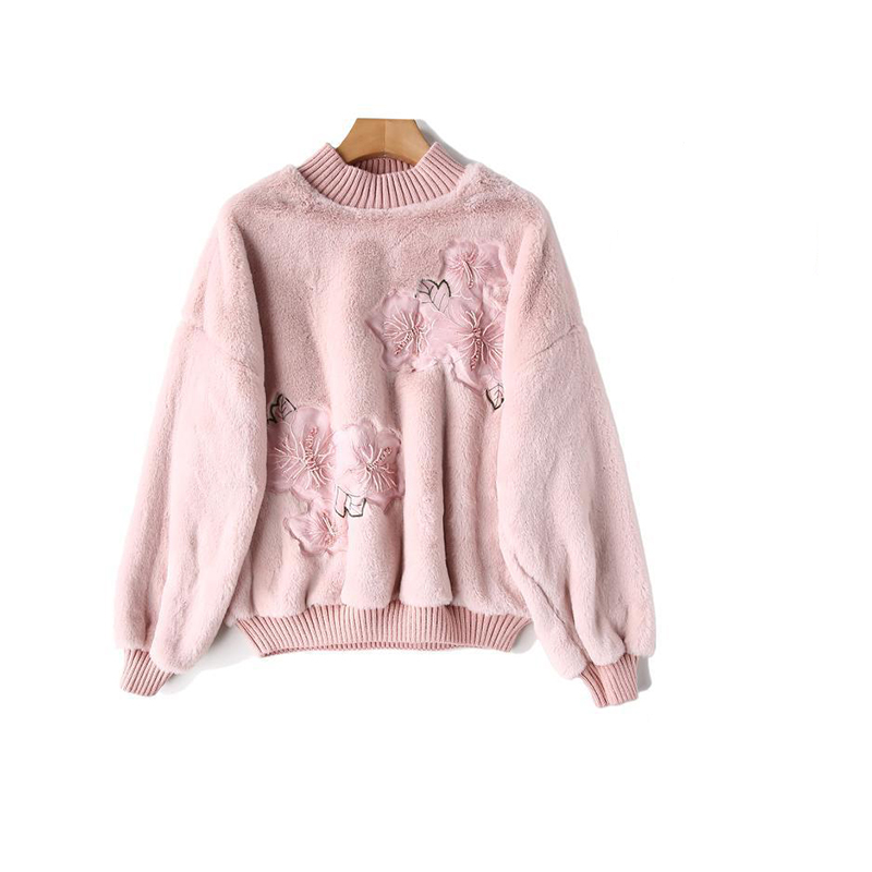 Turtleneck Winter Slim New Casual Pullover Fashion Sweater Thickened Solid Simple Rabbit Color Faux Warm Lantern Sleeve Velvet r6r1nIWTcU
