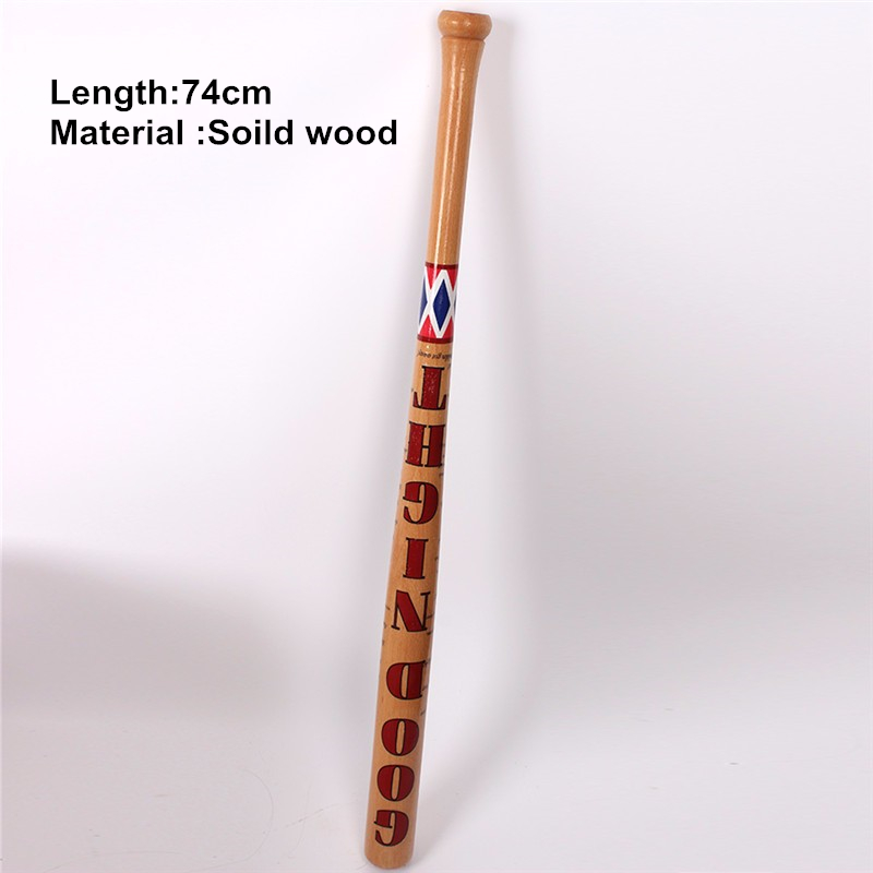 74cm Batman Arkham Asylum City Suicide Squad Harley Quinn Weapon Costume Cosplay original edition solid wood Quinn baseball bat
