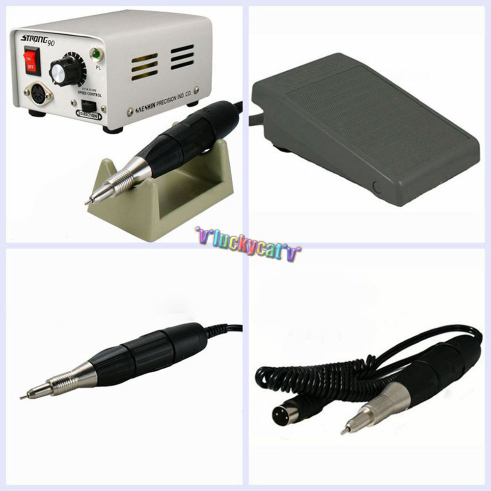 220V/110V Strong 90 Micromotor Hand Polishing Polisher 35000 rpm 102 Handpiece 220v 110v strong 90 e102s e type motor