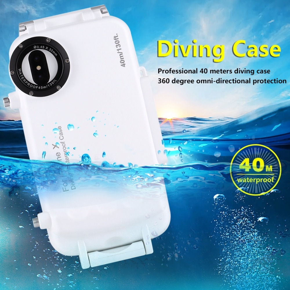 40M Diving Case for iPhoneX Top Quality Plastic Waterproof Diving Phone Cover for iPhone8 7 6s Plus Swim underwater photography40M Diving Case for iPhoneX Top Quality Plastic Waterproof Diving Phone Cover for iPhone8 7 6s Plus Swim underwater photography