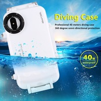 40M Diving Case for iPhoneX Top Quality Plastic Waterproof Diving Phone Cover for iPhone8 7 6s Plus Swim underwater photography