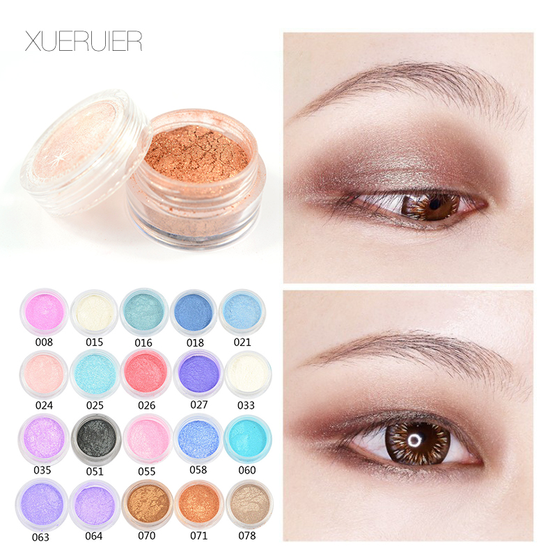 Penawaran khusus 1 Pcs maquiagem Glitter Shimmer Mineral Eyeshadow Makeup 20 Warna Ukuran Penuh Matte Eye Shadow Mode Nude Make Up