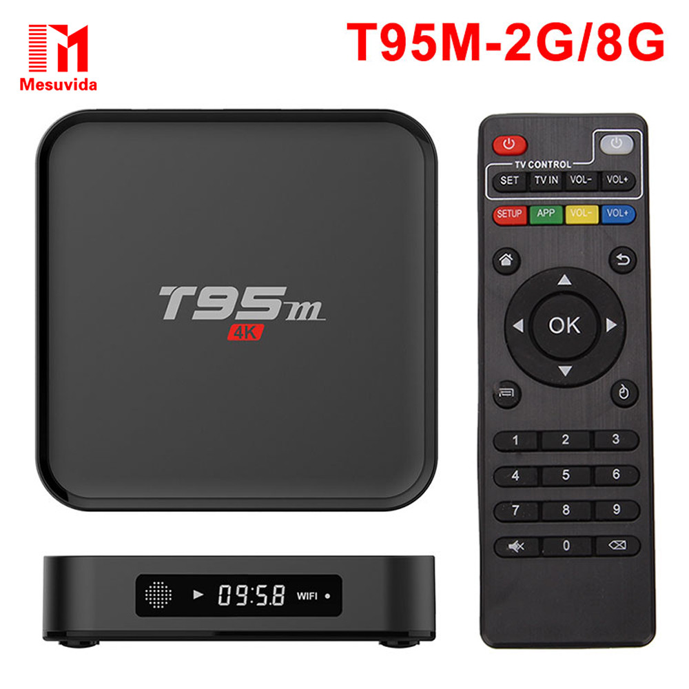 Prix pour Mesuvida Sunvell T95M Intelligent Android TV Box Set Top Box Amlogic S905X 64Bit Android 6.0 4 K HD 2.4 GHz KOD 16.0 Smart Media lecteur