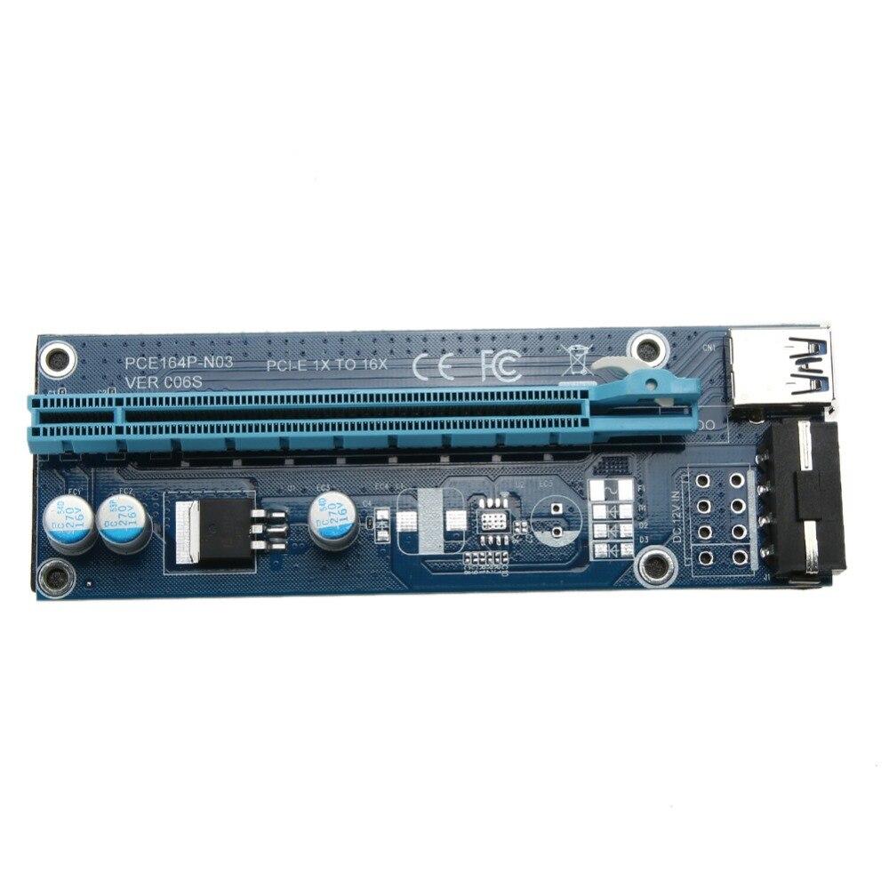 30/60 CM Riser PCIe PCI-E PCI Express Riser Card 1x à 16x USB 3.0 Câble de Données SATA à Broches Cordon D'alimentation pour BTC Mineur