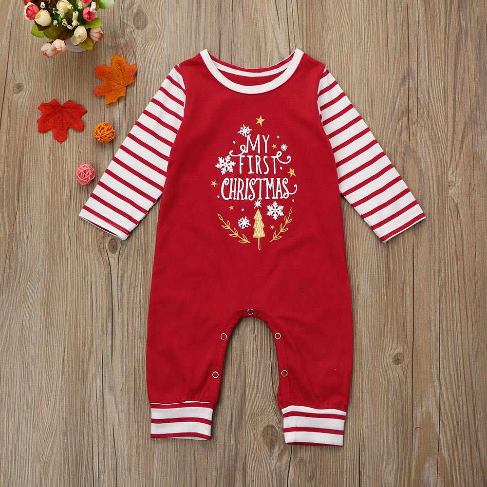 Bonito do miúdo macacão de natal explosão bebê recém-nascido meninas meninos adorável carta macacão conjunto roupa macia ropa niño