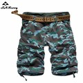 Mens Casual Military Board Short Summer Men's Camouflage Workout Multi-Pocket Army Cargo Shorts No Belt