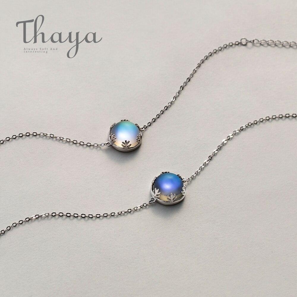 Thaya Aurora de pulseras s925 plata gradiente mágica de cristal pulsera Simple elegante delicada joyería de la amistad