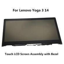 """14 """"DLA LENOVO YOGA 3 14 Ekran Dotykowy LP140WF3-SPL2 YOGA3-14 80JH0025US 80JH Zespołu Ekranu LCD"""