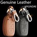2017 Мода Автомобиль Натуральная Кожа Ключ чехол Брелок для HYUNDAI Elantra Avante MISTRA Tucson IX35 IX25 VERNA sonata89