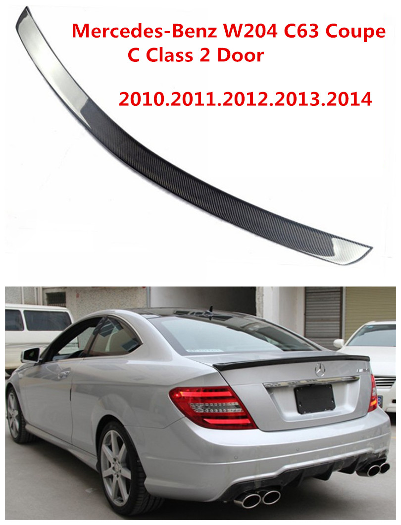 Carbon Fiber Spoiler For Mercedes-Benz W204 C63 Coupe C Class 2 Door 2010-2014 Car Wing Spoilers AMG Style Auto Accessories image