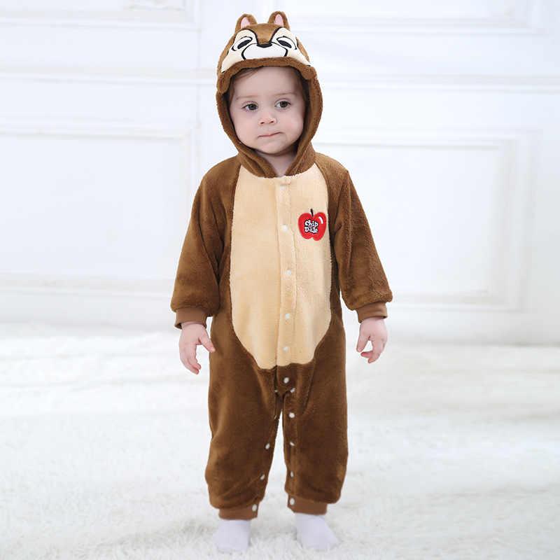 Kış Çocuk Onesie Sevimli Sincap Çocuk Kız Erkek Hayvan Çocuk Giysileri Cosplay Pijama Cadılar Bayramı Noel Kostümleri Romper
