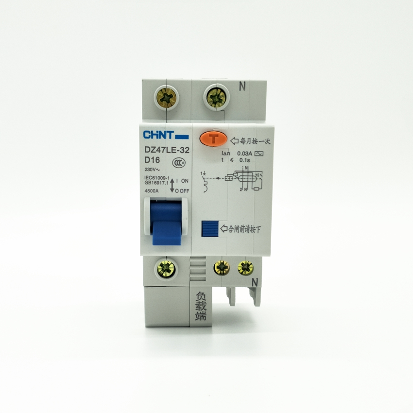 CHINT DZ47LE-32 1P+N D16A 30mA Earth Leakage Circuit Breaker/Residual Current Operated Circuit Breaker chint dz47le 32 3p c25a 30ma earth leakage circuit breaker residual current operated circuit breaker