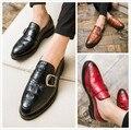 El estilista zapatos gruesos inferior en punta Para Hombre Metrosexual Británicos zapatos casuales pedal zapatos perezosos.