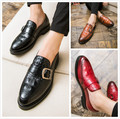 The stylist pointed bottom Metrosexual Mens thick shoes British casual shoes pedal lazy shoes.