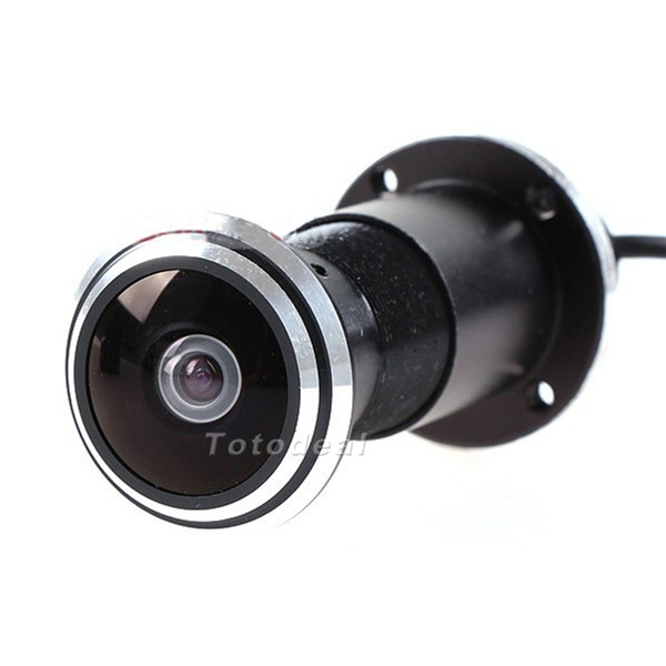 Mini door eye hole peephole video camera 170 wide angle for Door video camera