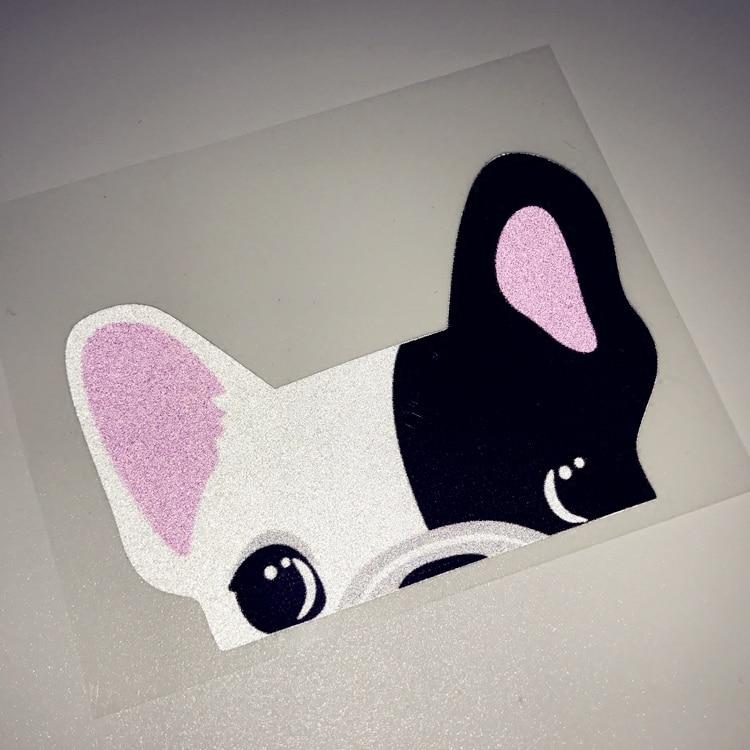 Car Stickers Cute Chihuahua French Bulldog Reflective Sticker For Audi S Sline Bmw M3 Etc