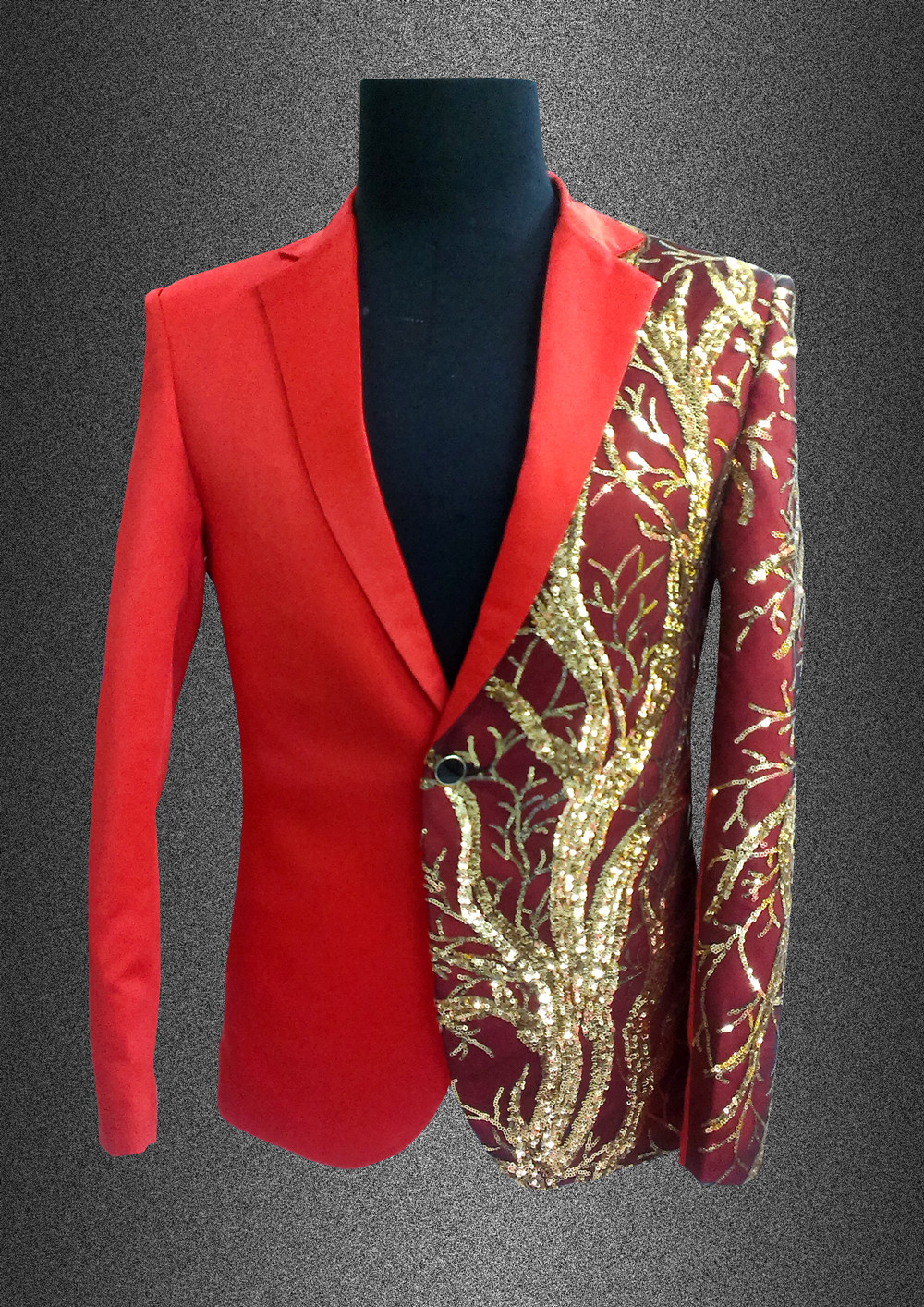 singer blazer Male formal dress costume men's clothing paillette suits clothes for dancer star performance nightclub party bar 4