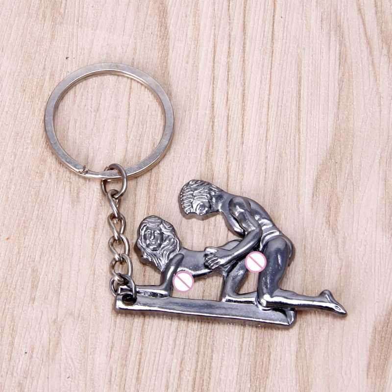 Male Genitalia Key Chain for Lovers Metal Sexy Adult Toy Gift Car Bag Key Holder