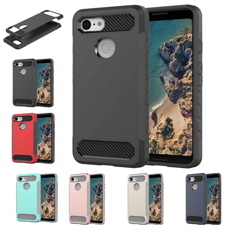 Anti-Knock Case For Google Pixel 3 XL Shockproof TPU+PC Strong Hybrid Back Case Cover For Google Pixel 2 3 XL